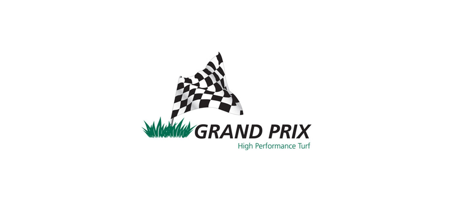 Grand prix logo turf finder